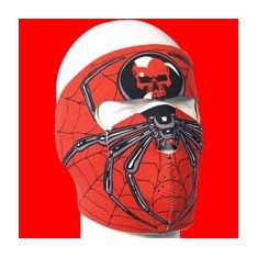 MASCARA NEOPRENO SPIDER NEGRO/ROJO