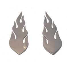 chromed trim flames