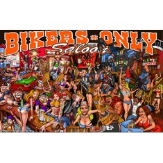 Saloon bikers flag