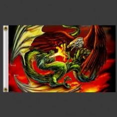 Bandeira dragão e águia