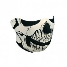 Skull black/white neoprene mask