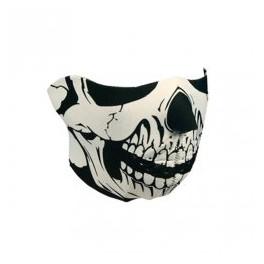 Skull black/white neoprene mask