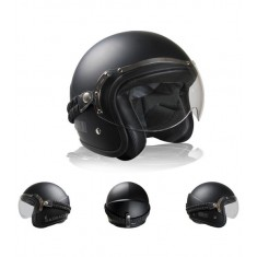 CASCO CLASSIC NEGRO MATE  BARRACUDA