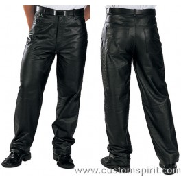 Black leather jeans size XL
