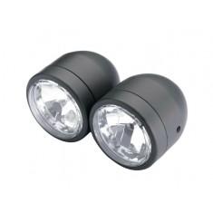 Black dual headlight.